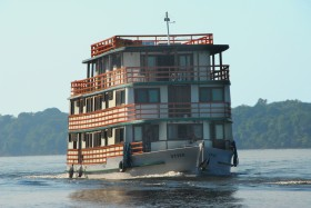 The Amazon Otter Peacock Bass Fishing houseboat in Brazil