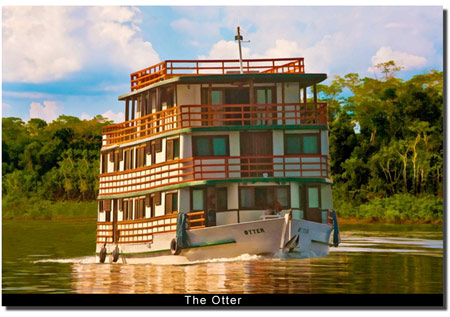 The Otter, finest peacock fishing houseboat in the Amazon