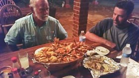 Great food for bass fishermen at Lake Picachos Lodge