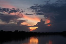 Sunset view in the Amazon from the Otter